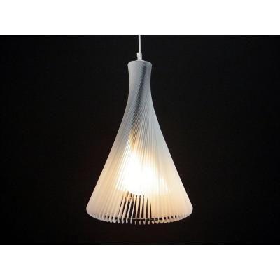 Exkluzív függesztett mennyezeti lámpa, keskeny, fehér - RONDO SLIM